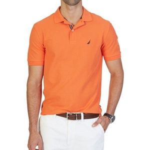 Nautica Men's Orange Classic-Fit Performance Polo